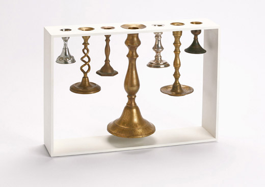 Rescued Candlesticks Unite to Form Upcycled Menorah