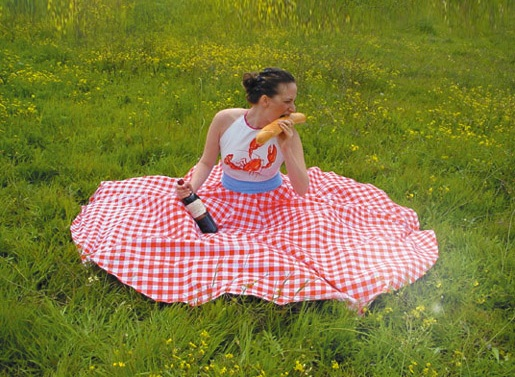 """spontaneous picnic dress"""