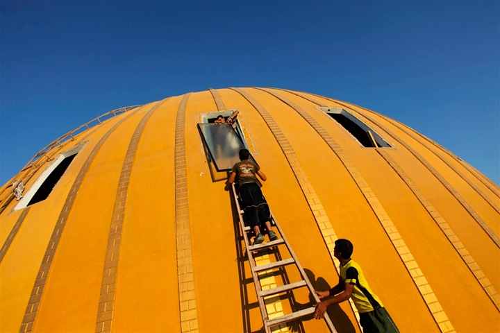 'The Dome' Mosque In Gaza Strip Is Under Repair