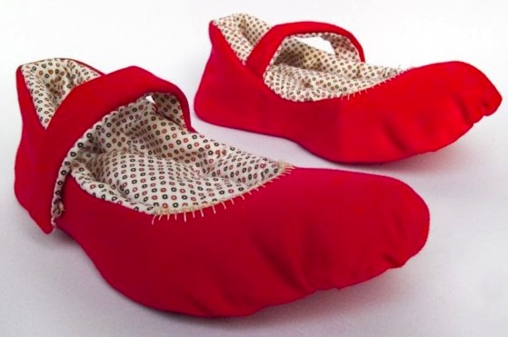 """upcycled fabric slippers"""