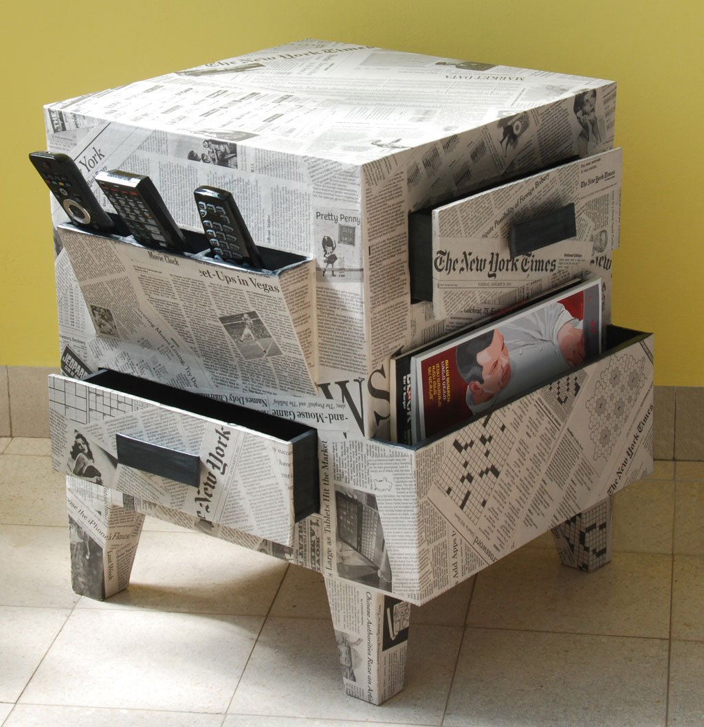Recycled Cardboard Furniture-www.greenprophet.com