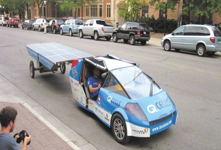"""solar powered taxi"""
