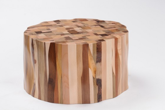 """upcycled wood stool design"""