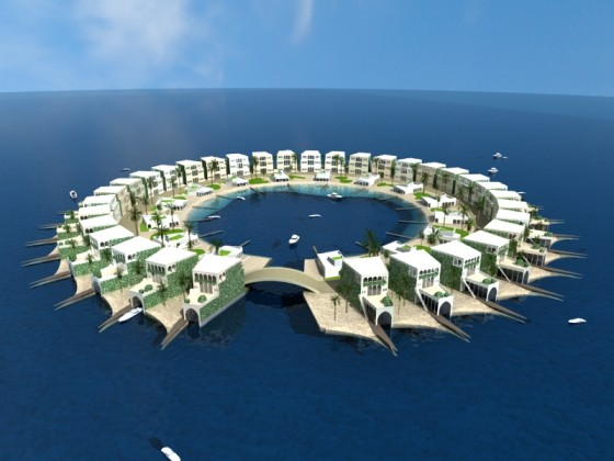 Floating Islands Artificial Dubai The Gulf World Climate Change