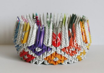 """""""origami recycled paper"""""""