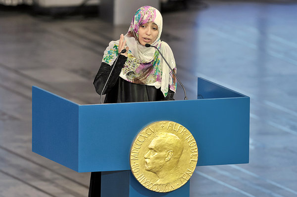 First Arab Woman Ever to Win Nobel Peace Prize
