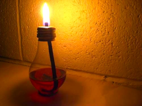 light bulb oil lamp – Green Prophet