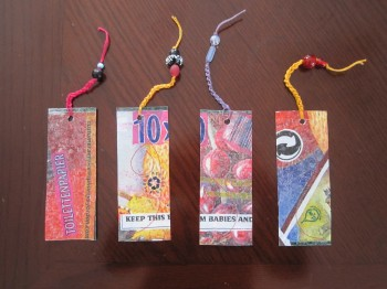 plastic bag book marks