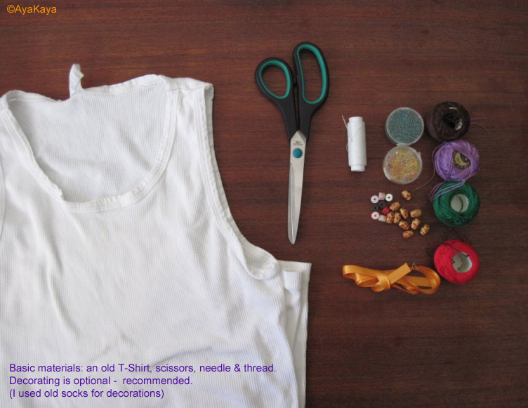 Aya Kaya's Online Upcycling Tutorial For Turning T-Shirts Into Bags