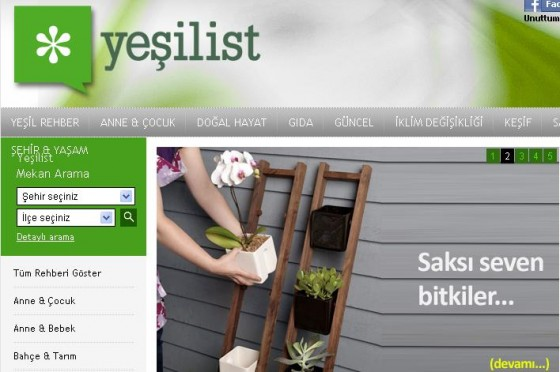 Yeşilist  turkey green website