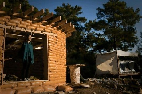 Woman Builds Off-Grid Earth Bag Home in Turkey for $3,761