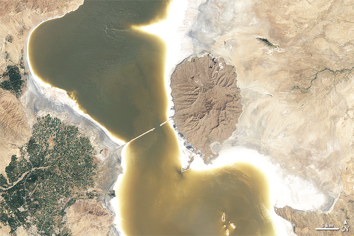 NASA's Before and After Images of Iran's Shrinking Lake Urmia