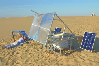 Solar Sinter in the Saharan desert near Siwa, Egypt, Photo by Amos Field
