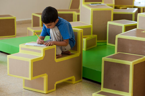 Cardboard Interior Design Upgrades Community Lobby