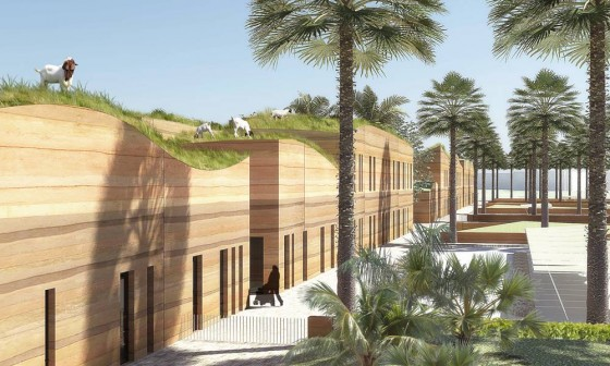 green building, green roof, Kuwait, Perkins + Will, green design, sustainable design, green architecture, eco-architecture, agriculture, fertile crescent, green school
