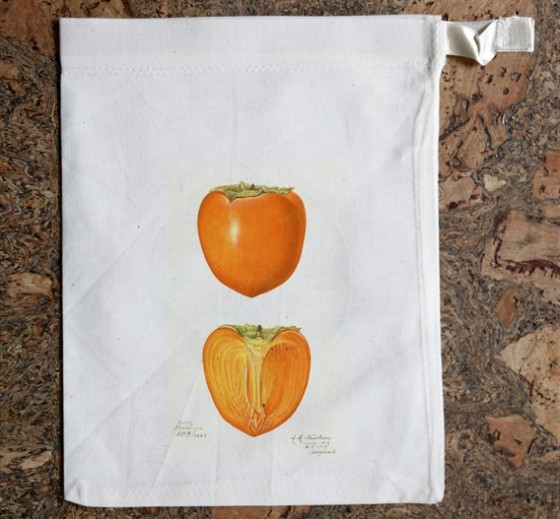 """persimmon cloth bag"""
