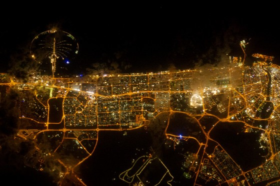 international space station light pollution Dubai