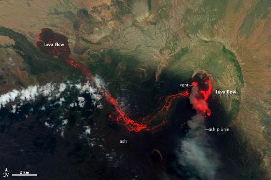 Located in the East African nation of Eritrea, the Nabro volcano began its eruption explosively on June 12