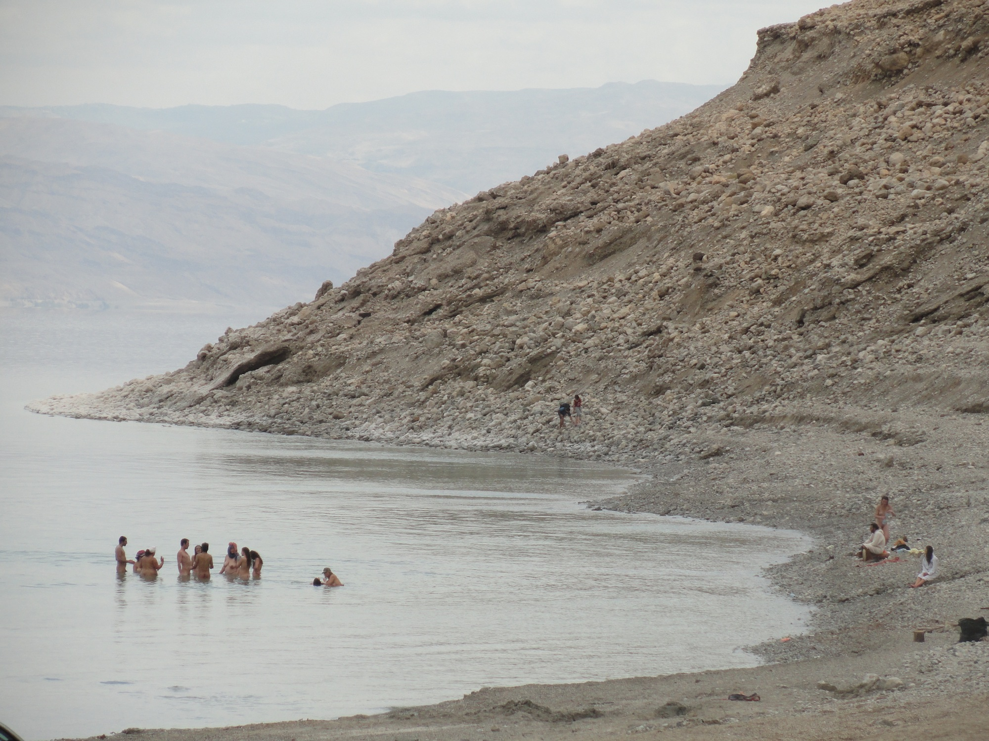 Naked Dead Sea Bathing in Hot Springs All Year Long