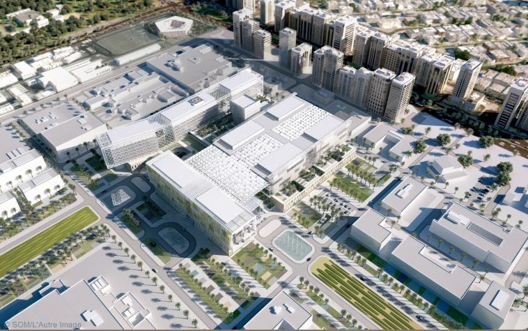 green design, passive design, Abu Dhabi, Sheikh Khalifa Medical City, SOM, architecture, urban, retail therapy, Estidama