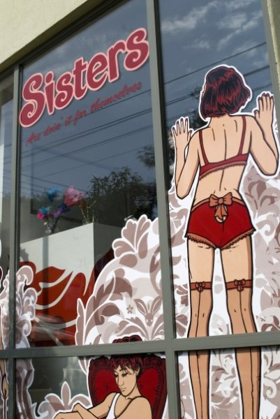 sex shop storefront window