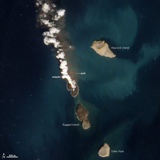 a new island began forming between Yemen and Eritrea among the Zubair archipelago