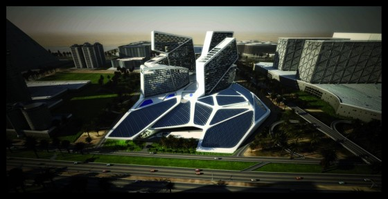 Dubai S Vertical Village Has A Skirt Of Photovoltaics