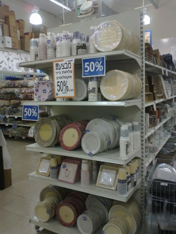plastic dishes store israel passover