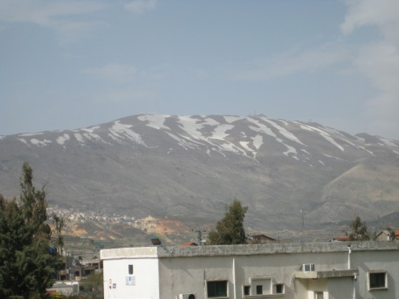 Mt. Hermon view from Druze village of Mas'ade