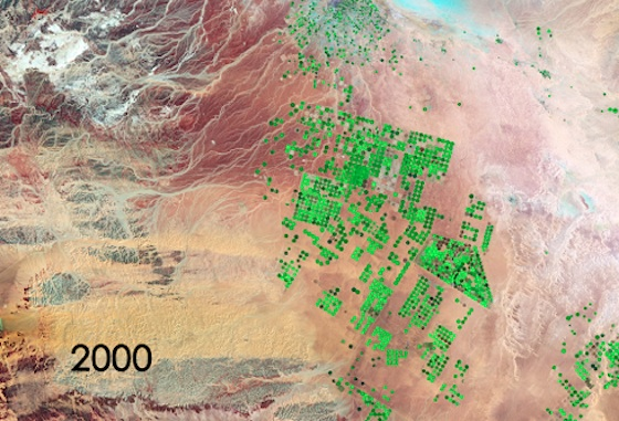 water waste, NASA, water conservation, agriculture, land grabs, saudi arabia