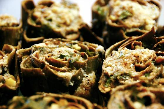 Syrian Stuffed Artichoke Hearts (Recipe)