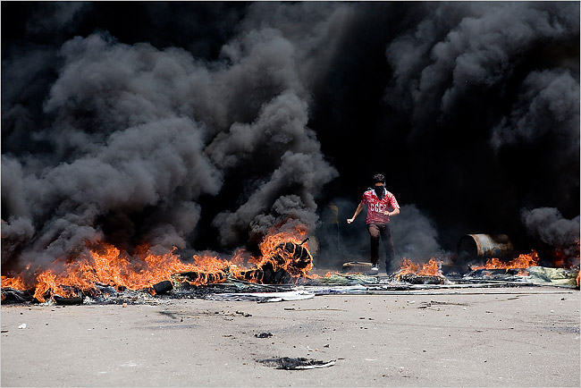 Tire Burning Protests In Lebanon Just Dirty Smoke Green
