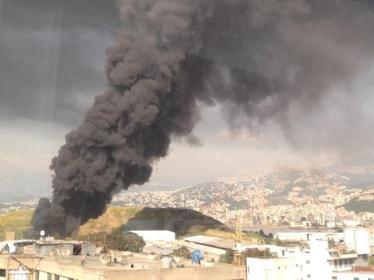 tire fire beirut