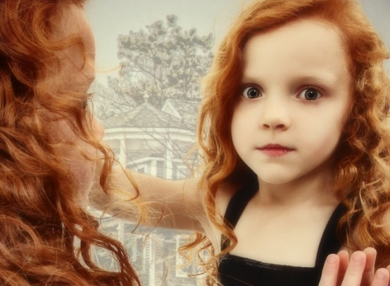 autism red head girl