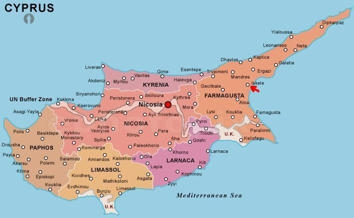 map of cyprus, oil drilling