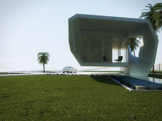 Simple wave house is a minimalist summer home for turkey for Concept homes