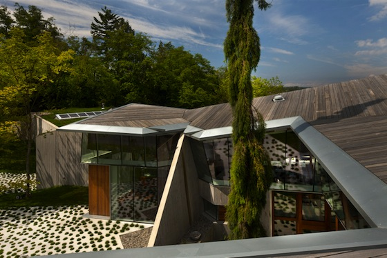 Omer Arbel's Green-Roofed 23.2 House is Framed With Sacred Reclaimed Timber