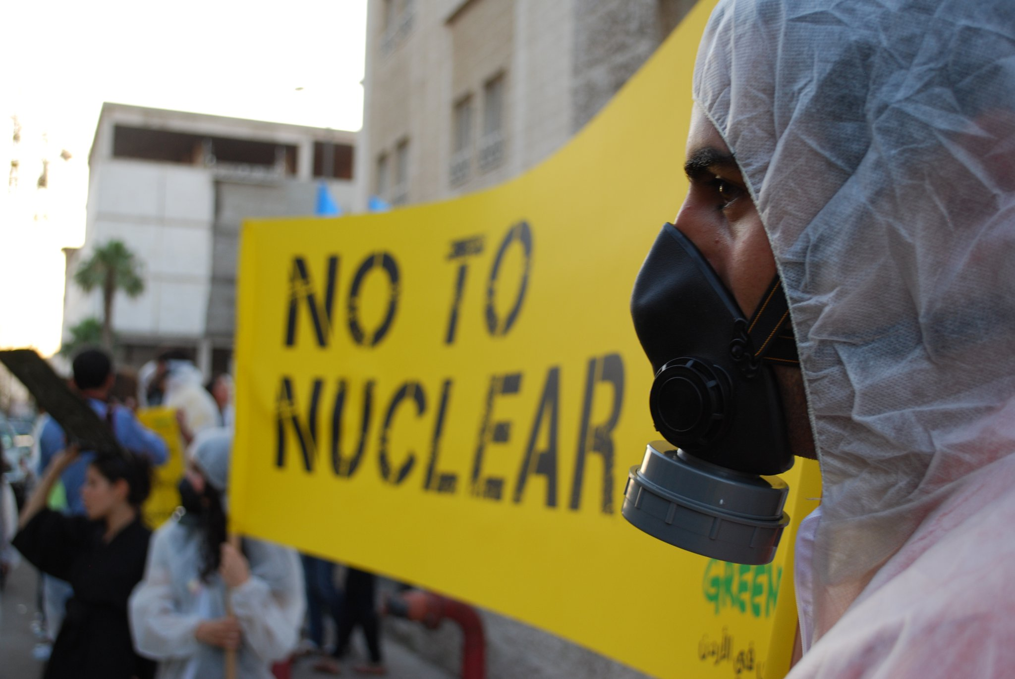 nuclear energy jordan protests greenpeace