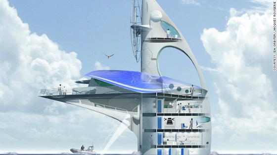 SeaOrbiter, ocean, research, clean tech, renewable energy, solar-power, biofuel, NASA, Jacques Rougerie
