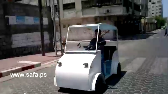 Gaza, DIY, EV, Electric Vehicle, Solar Power, green design, green transportation