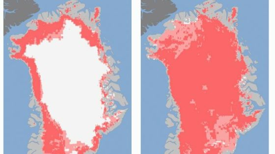 greenland icefields melting ice glaciers maps