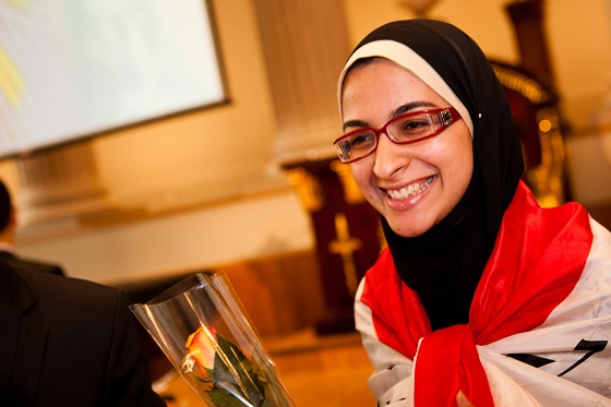 Azza Abdel Hamid Faiad, Egyptian young scientist, European Union Contest for Young Scientists, plastic to biofuel