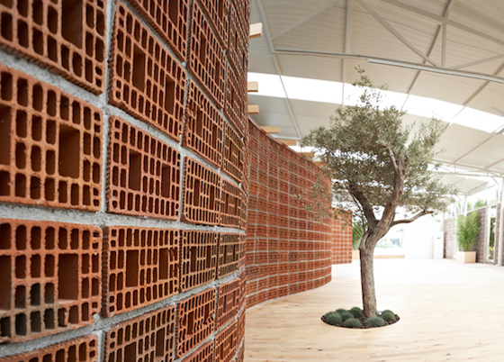 Turkish Furniture Store Transformed by Curvy Brick Wall