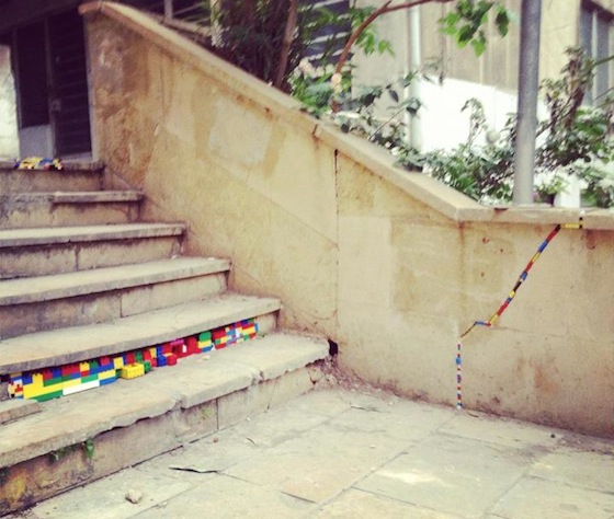 LEGO, Beirut, urban intervention, design, pollution, art