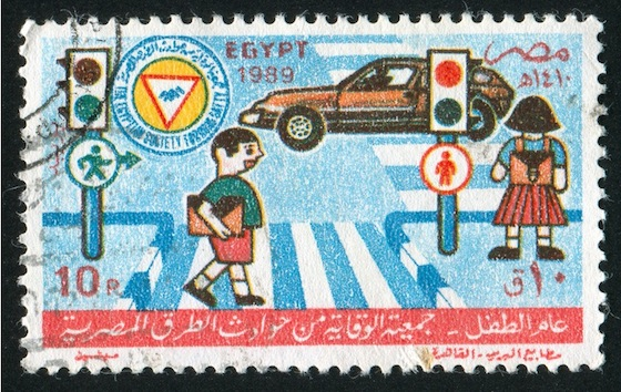 driving dubai, egypt road safety stamp