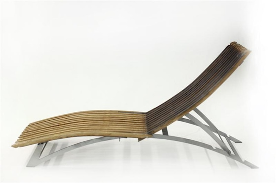 lounge chair, recycled wood, wine barrel, Tel Aviv, upcycled furniture