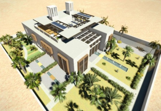 green building, eco-villa, Qatar, LSI Architects, renewable energy, water conservation, QSAS