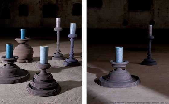 Istanbul Twilight: Hand-Crafted Felt Candlesticks With Mood
