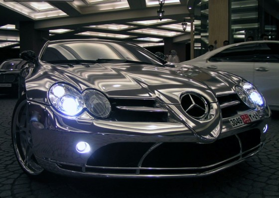 Mclaren white gold Mercedes