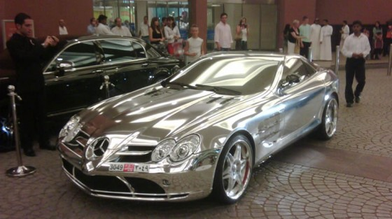 How Much Gold Goes into a White Gold Mercedes Sports Coupe ...